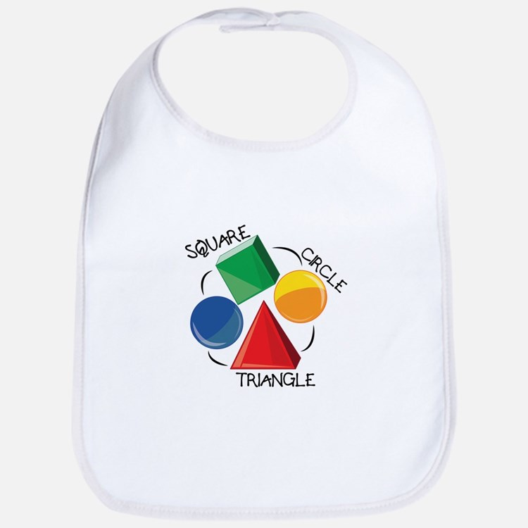 Square Circle Triangle Bib