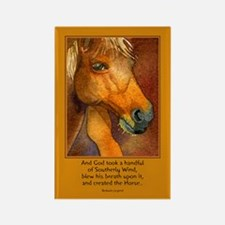 Golden Horse Rectangle Magnet