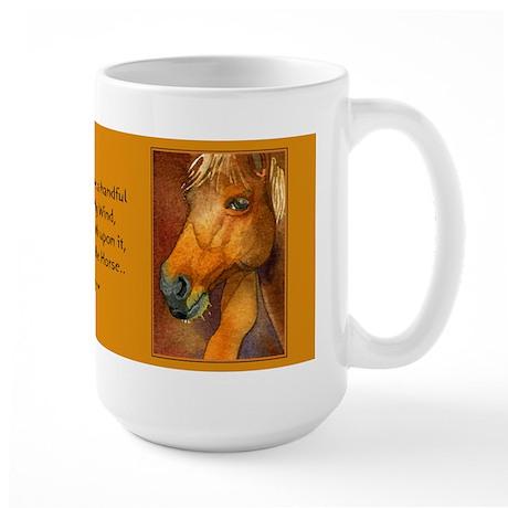 Golden Horse Large Mug