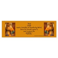 Golden Horse Bumper Bumper Sticker