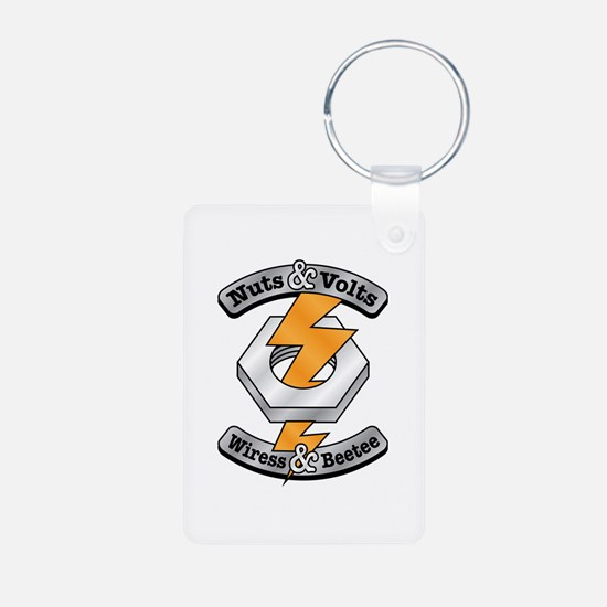 Nuts Volts Aluminum Photo Keychain