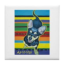 Chihuahua on Serape Tile Coaster