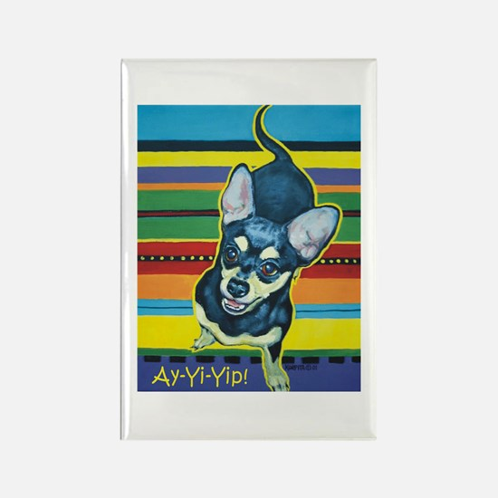 Chihuahua on Serape Rectangle Magnet