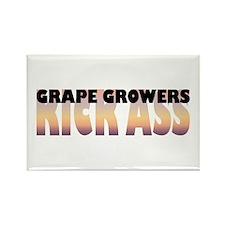 Grape Growers Kick Ass Rectangle Magnet