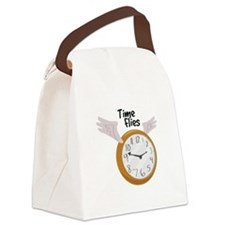 Time Flies Canvas Lunch Bag