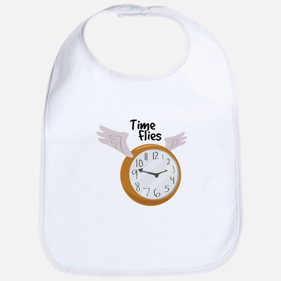Time Flies Bib