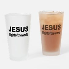 Jesus #lightoftheworld Drinking Glass