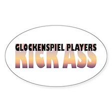Glockenspiel Players Kick Ass Oval Decal
