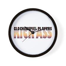Glockenspiel Players Kick Ass Wall Clock