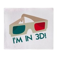 Im In 3D! Throw Blanket