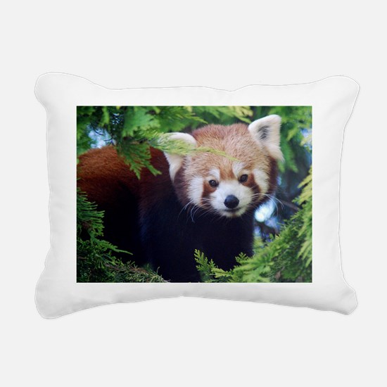 Red Panda Rectangular Canvas Pillow