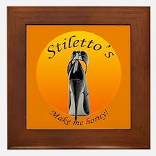 Stiletto's make me horny Framed Tile