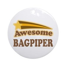 Awesome Bagpiper Ornament (Round)