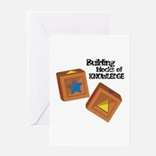 Blocks Of Knowledge Greeting Cards