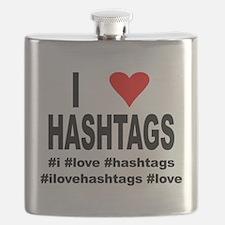 I Love Hashtags Flask