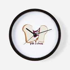 PB & Jam Wall Clock