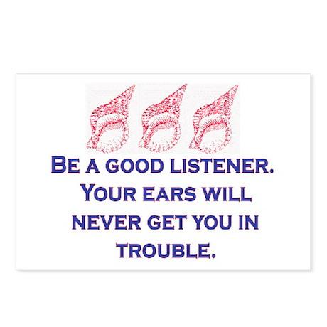 GOOD LISTENER Postcards (Package of 8)