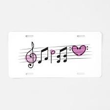 Love Music Aluminum License Plate