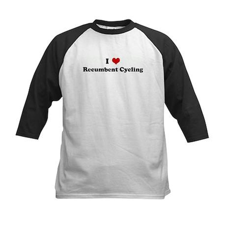 I Love Recumbent Cycling Kids Baseball Jersey