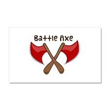 Battle Axe Car Magnet 20 x 12
