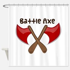 Battle Axe Shower Curtain