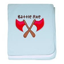 Battle Axe baby blanket
