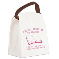 I'm Not Addicted To Reading Canvas Lunch Bag