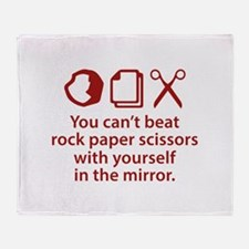 You Can't Beat Rock Paper Scissors Stadium Blanket