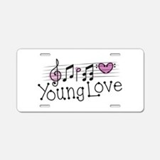 Young Love Aluminum License Plate