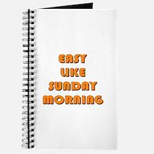 Easy Like Sunday Morning Journal