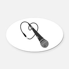 Microphone Oval Car Magnet