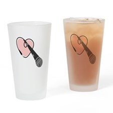 Love Microphone Drinking Glass