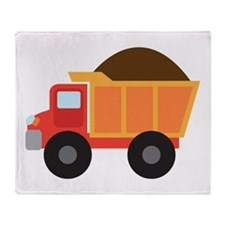 Dump Truck Construction Vehicle Throw Blanket