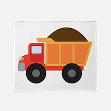 Dump Truck Construction Vehicle Throw Blanket