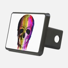 Rainbow Painted Skull Hitch Cover