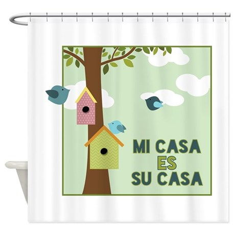 mi casa es su casa shower curtain by embroidery14. Black Bedroom Furniture Sets. Home Design Ideas