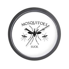 Mosquitoes Suck Wall Clock