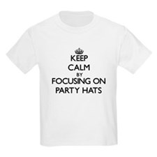 Keep Calm by focusing on Party Hats T-Shirt