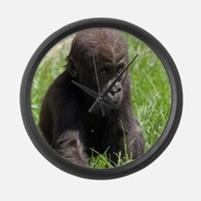 Gorilla-Baby002 Large Wall Clock