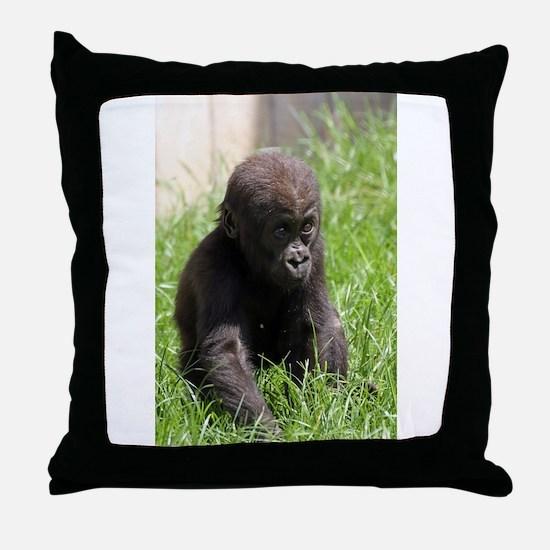 Gorilla-Baby002 Throw Pillow
