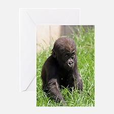Gorilla-Baby002 Greeting Cards