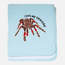 Love My Tarantula baby blanket