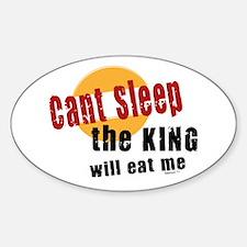 Can't Sleep Oval Decal