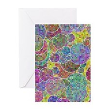Bubbles mosaic Greeting Cards
