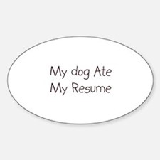 resume template Oval Decal
