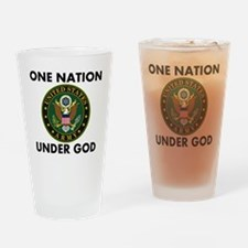 One Nation Under God Army Drinking Glass