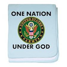 One Nation Under God Army baby blanket