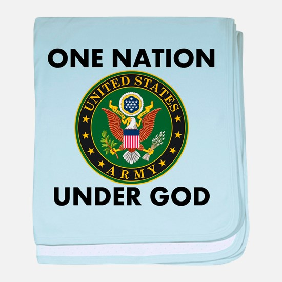 One Nation Under God Army baby blanket