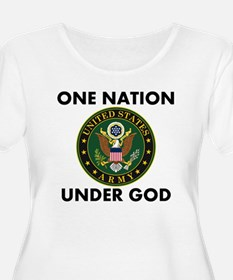 One Nation Under God Army Plus Size T-Shirt