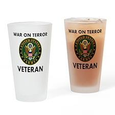 War On Terror Veteran Drinking Glass